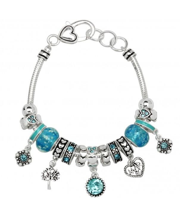 Birthstone Bracelet Multi Color Silvertone OB07234 MAR