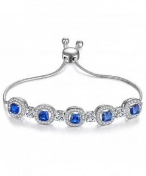 Caperci Cushion Sapphire Adjustable Bracelet