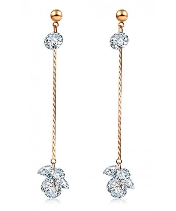 Aserlin Womens Zirconia Hanging Earrings