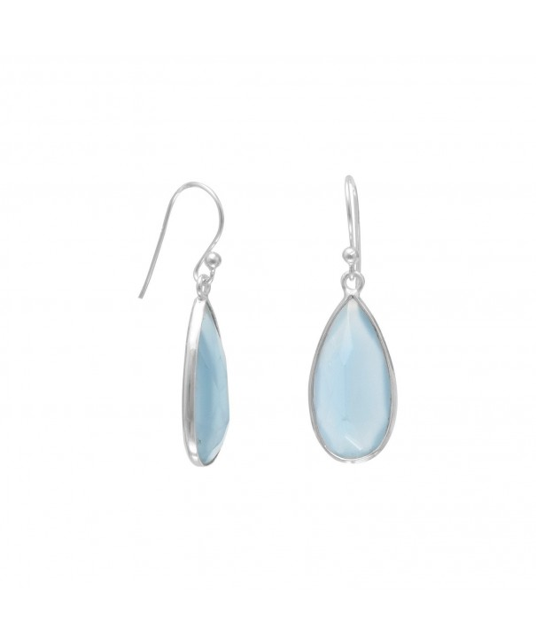 Chalcedony Shape Sterling Silver Earrings
