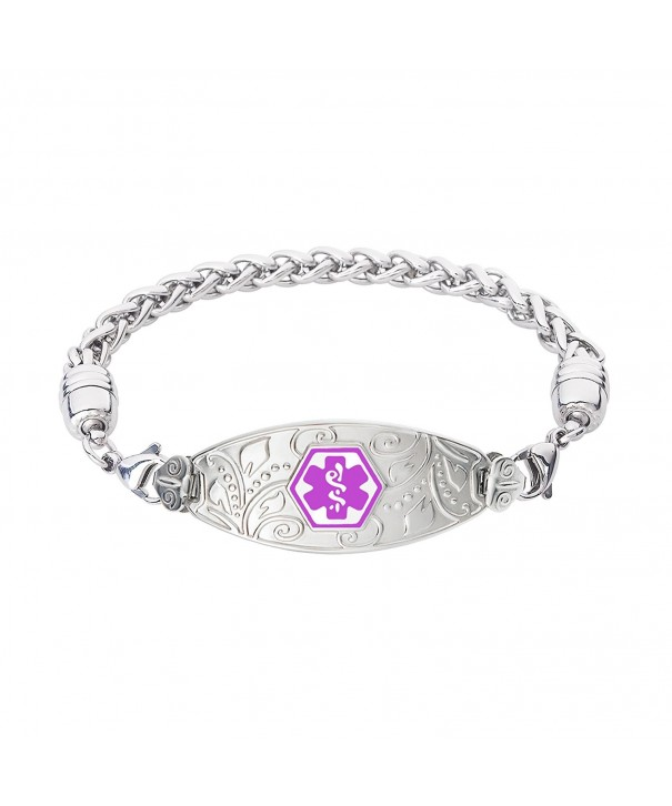 Divoti Engraved Filigree Stainless Purple 7 5