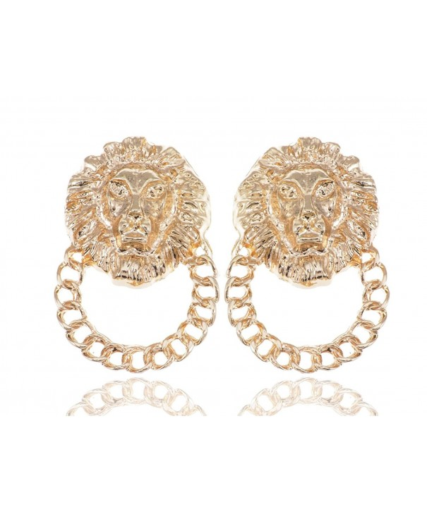 Alilang Golden Venetian Etched Earrings
