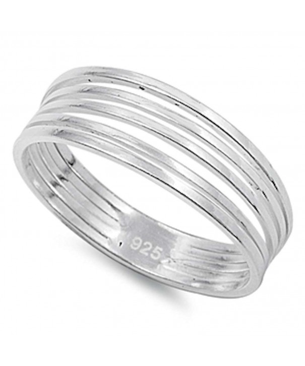 Solid Band Sterling Silver Sizes