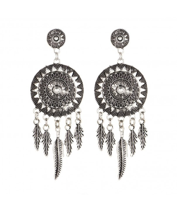 17KM Catcher Vintage Feather Earrings