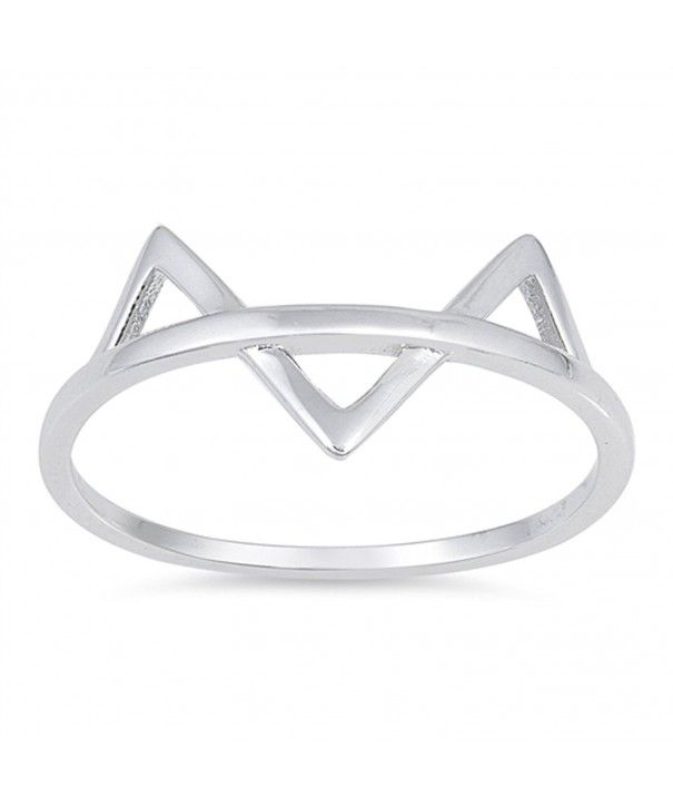 Triangle Animal Fashion Sterling Silver