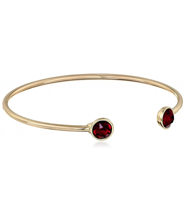 Oroclone Plated Swarovski Bangle Bracelet
