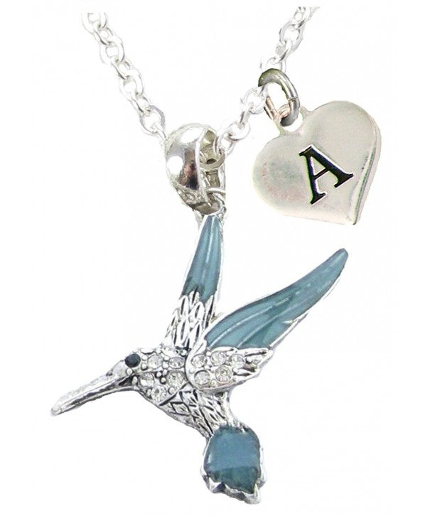 Hummingbird Necklace Jewelry Initial available
