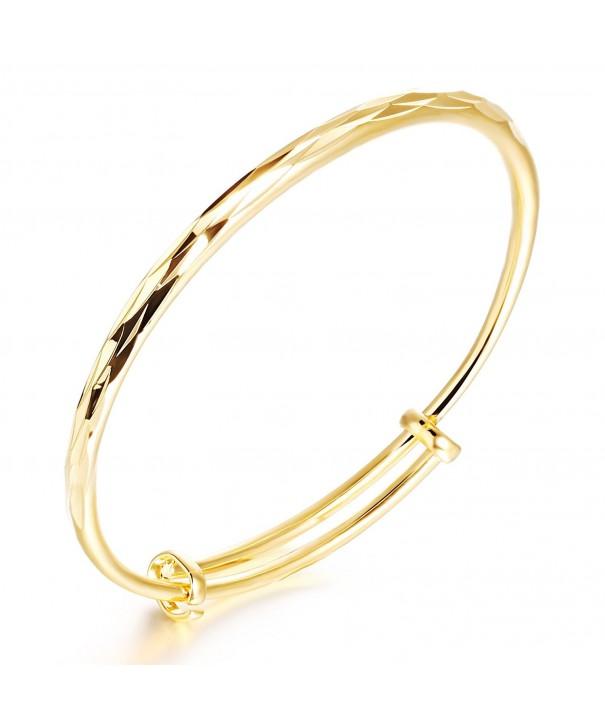 Stainless Cutting Pattern bracelet Adjustable