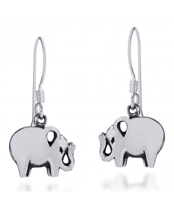 Charming Elephant Sterling Silver Earrings