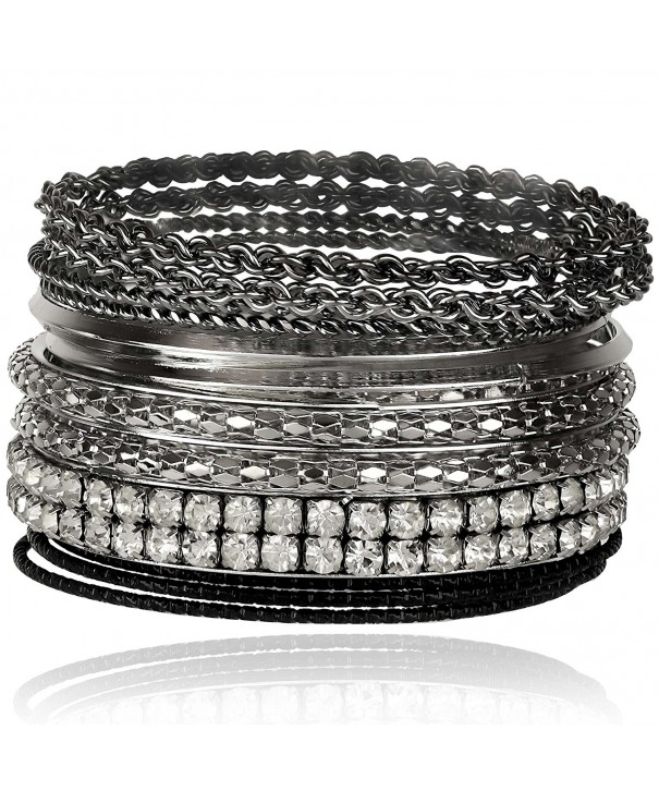 Lux Accessories Gunmetal Bracelet Textured