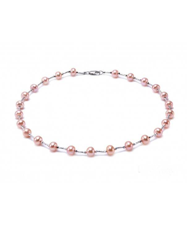 JYX Sterling 7 5 8 5mm Freshwater Pearl