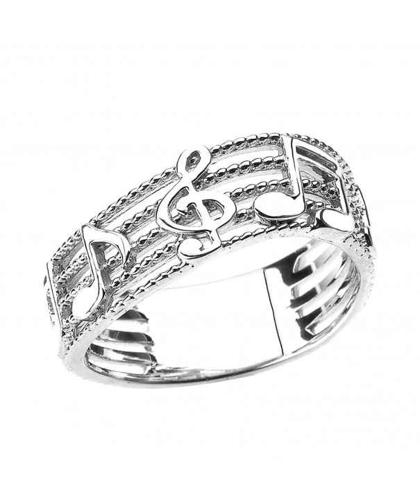 Treble Musical Notes Sterling Silver