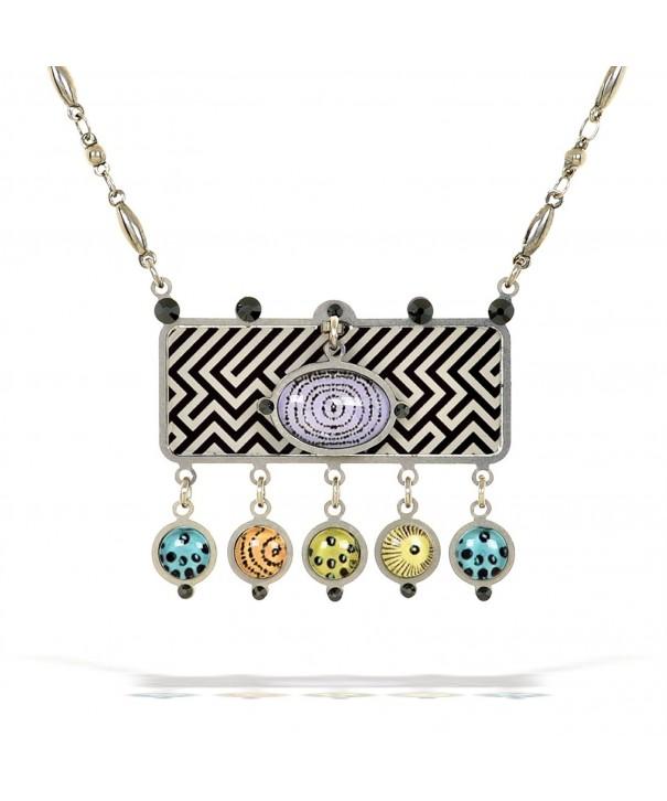 Artazia Black Necklaces Pastel Accents