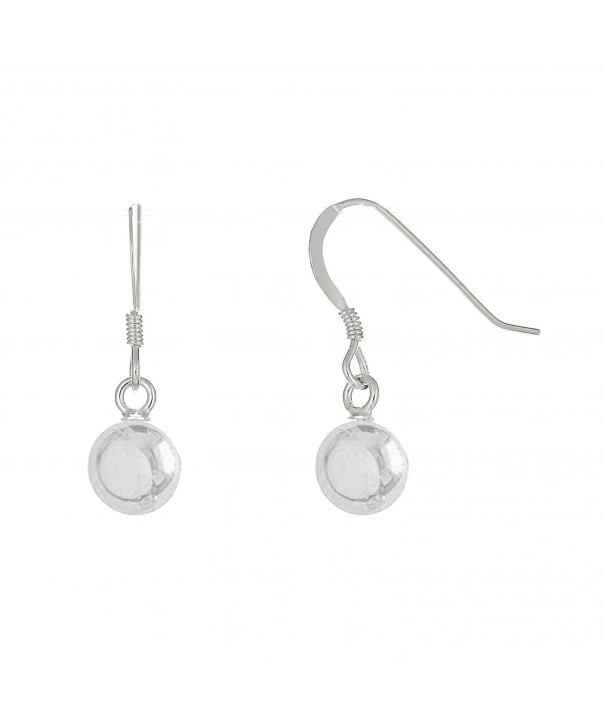 Sterling Silver Shiny Dangle Earrings