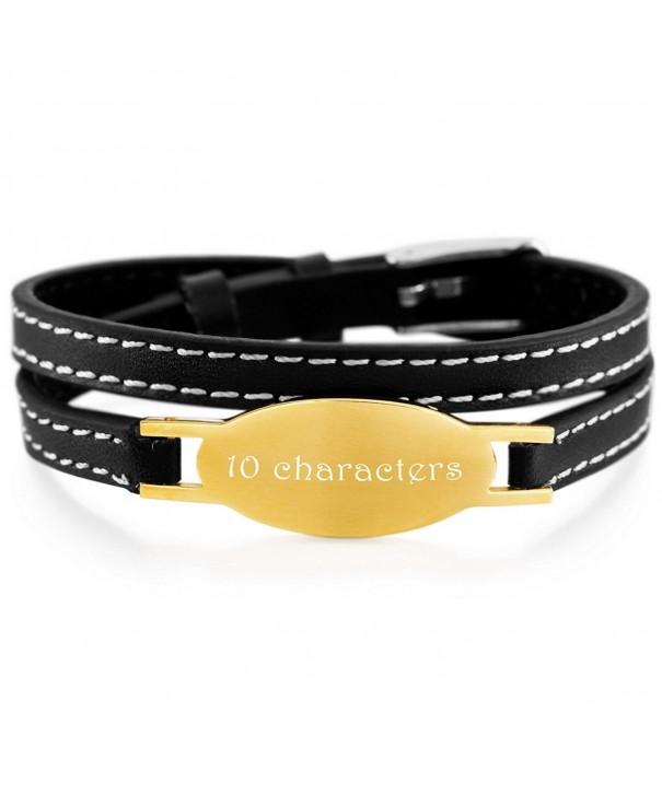 MeMeDIY Stainless Genuine Bracelet Adjustable