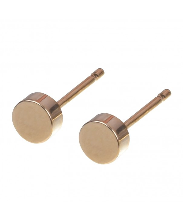 Plated Round Cylinder Earring Zoetik