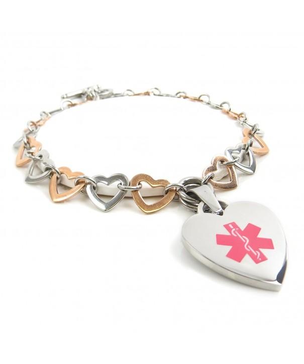 MyIDDr Medical bracelet Colored Hearts