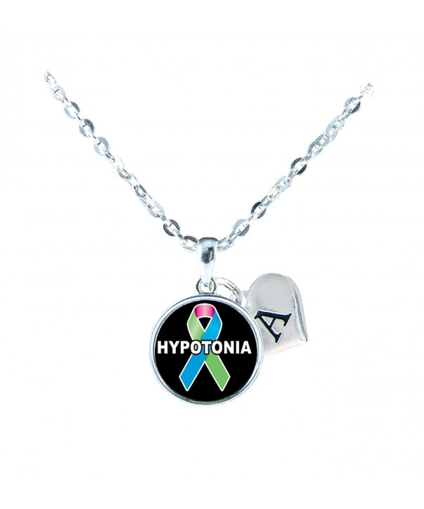Hypotonia Awareness Necklace Jewelry Initial