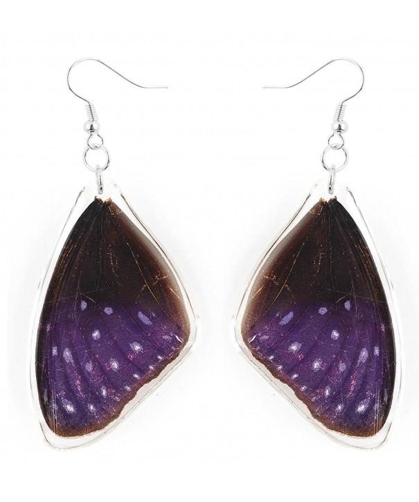 Handmade Sterling Striped Butterfly Earrings