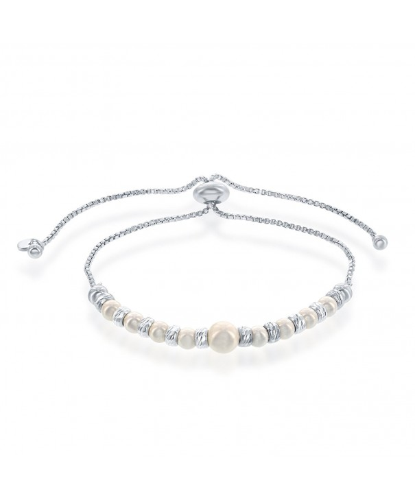 Alternating Swarovski Simulated Adjustable Friendship