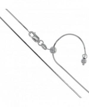 Rhodium Sterling Silver Adjustable Necklace
