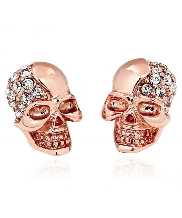 ELBLUVF Alloy Plated Rhinestone Earrings