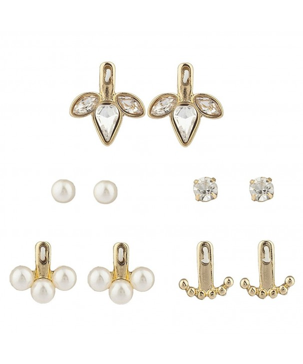 Lux Accessories Goldtone imitation Rhinestone