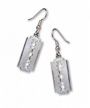 Gothic Dangle Earrings Polished Silver