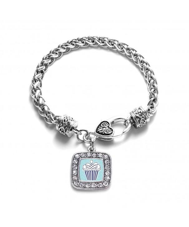 Chevron Cupcake Classic Silver Bracelet