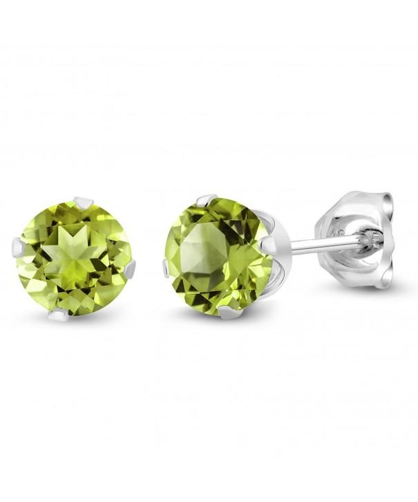 Peridot Gemstone Birthstone Sterling Earrings