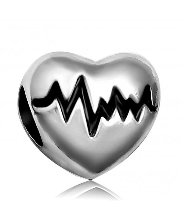 JMQJewelry Electrocardiogram Christmas Heartbeat Bracelets