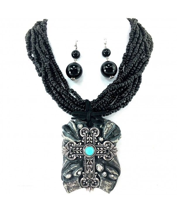 Western Peak Chunky Necklace Earrings