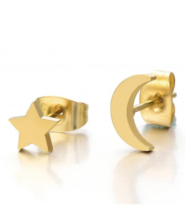 Color Stainless Steel Plain Earrings