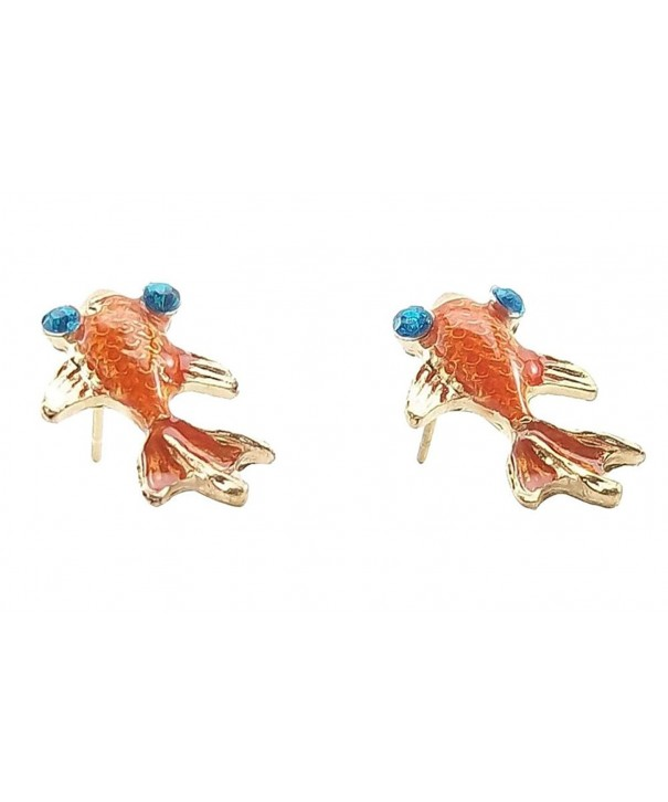 Under Orange Carp Goldfish Earrings