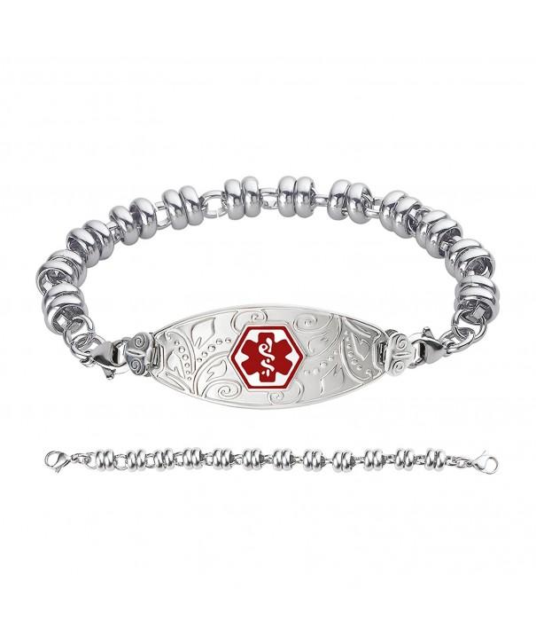 Divoti Engraved Filigree Bracelet Stainless