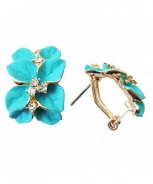 Navachi Plated Crystal Blue green Earrings