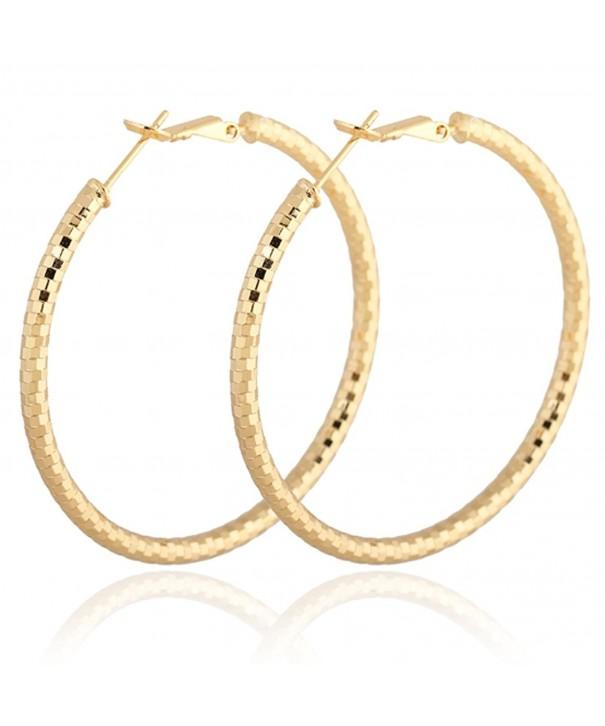 YAZILINDCircle Polished Plated Earrings Diameter