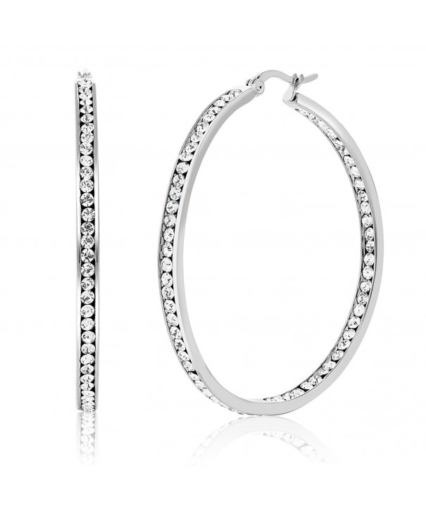 Stunning Stainless Steel Inside Out Earrings