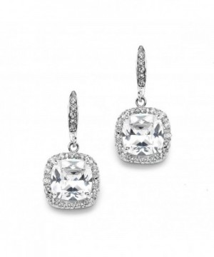 Mariell Cushion Zirconia Wedding Earrings