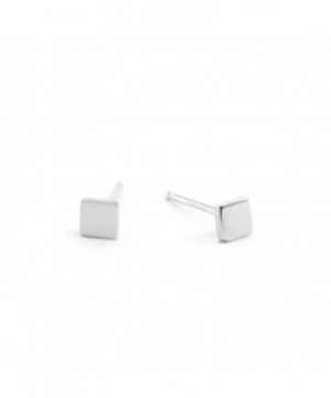Sterling Silver SQUARE Disk Earring