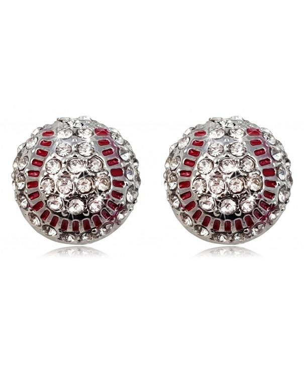 Crystal Baseball Earrings Fashion Jewelry