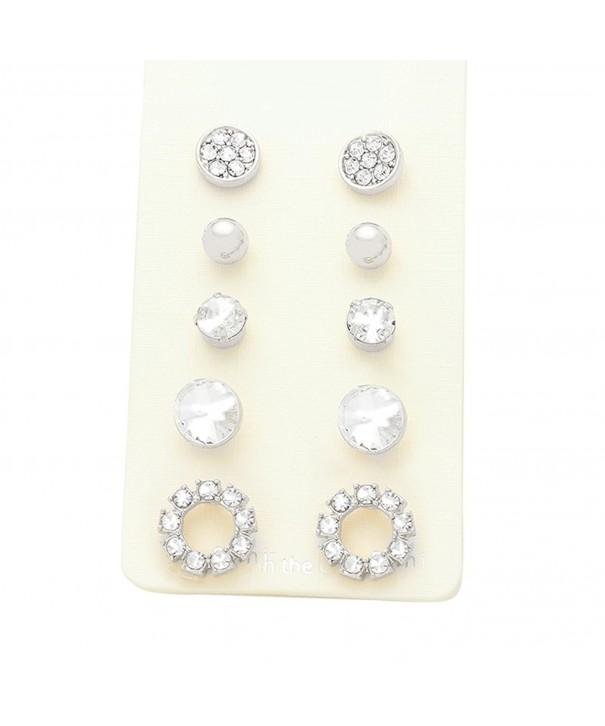 Rosemarie Collections Womens Crystal Earrings