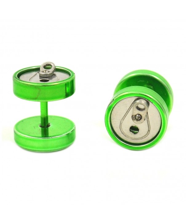 Pair Green Steel Cheater Plugs