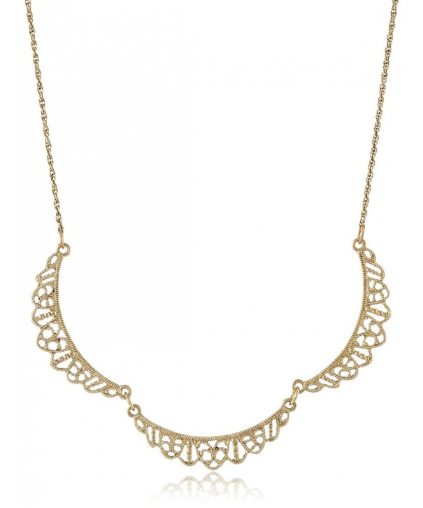 Downton Abbey Gold Tone Filigree Necklace