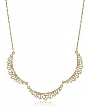 Downton Abbey Gold Tone Filigree Necklace