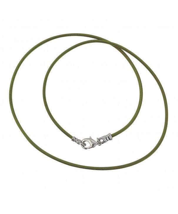 Sterling Silver 1 8mm Leather Necklace