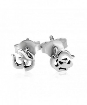 Sterling Silver India Symbol Earrings