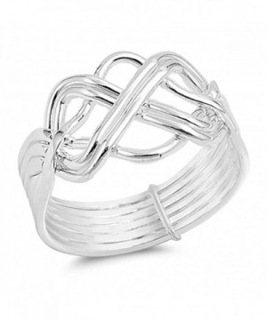 High Polish Puzzle Sterling Silver