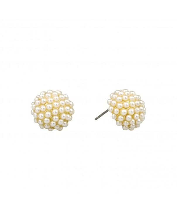 John Wind Pave Pearl Earrings