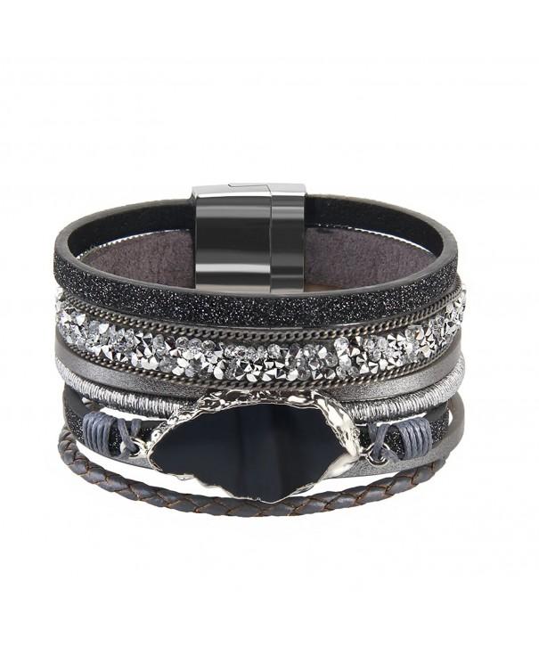 Grey Handmade Braided Bracelet Accessories